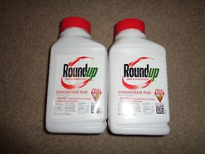 Roundup Concentrate Plus Weed & Grass Killer 16 oz Bottle Free Priority Shipping
