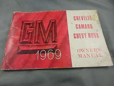 1969 Gm Chevelle Camaro Chevy Nova Owner's Manual