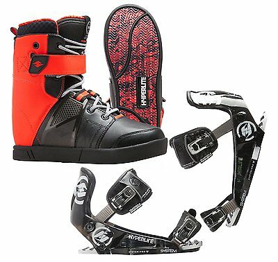 New 2016 Hyperlite Process Wakeboard Boots w/ 2016 System Pro Binding- Men's 12
