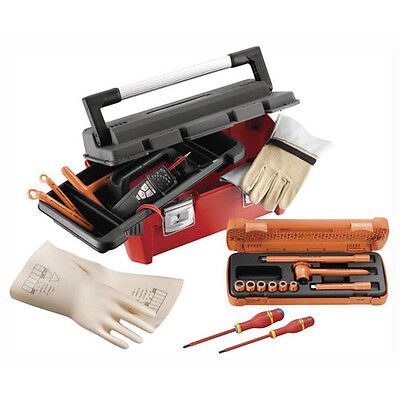 """Facom 17 Piece 3/8"""" Drive VDE Insulated Tool Set for Hybrid & Electric Vehicles"""