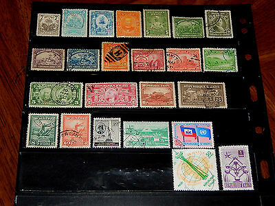 Haiti stamps - 24 mint hinged and used early stamps - nice !!