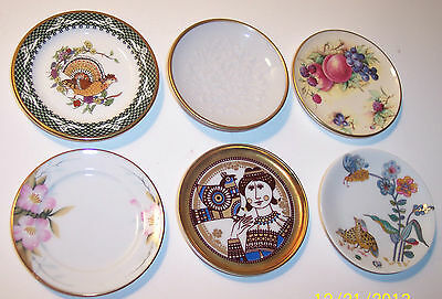 "LOT 6 CHINA PORCELAIN BUTTER PATS 3"" staffordshire langenthal limoges noritake"