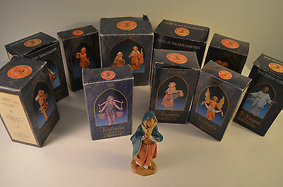 13 Fontanini Figurines Figures By Roman Depose Italy With Boxes & Story Cards