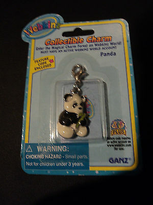 Webkinz Charm Brand New in Package W Sealed Code - PANDA