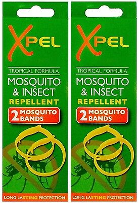 Mosquito & Insect Repellent Bands  2x2 pack and 1x2 Pack  Xpel