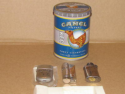 Camel Tin with three lighters