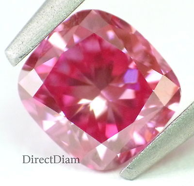 0.79 ct Fancy vivid Pink loose Natural diamond VS1 Cushion Cut GIA certified