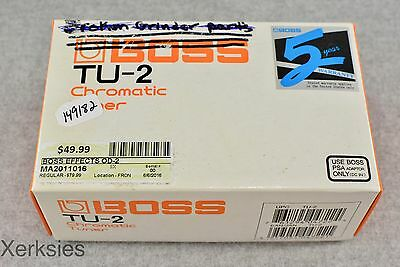Boss TU-2 Chromatic Tuner Guitar Effects Pedal (CARDBOARD BOX ONLY) #4069