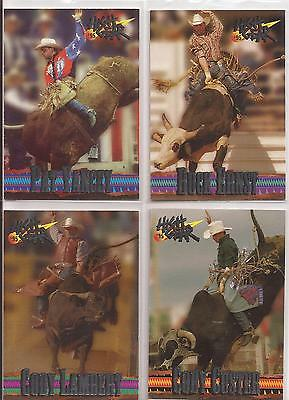 4X 1995 HIGH GEAR BULL RIDEING LEGENDS CARD LOT PRCA PBR  lot#1