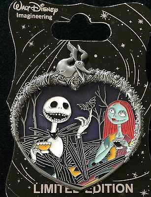 Disney Pin Wdi Jack & Sally Nightmare Before Christmas Nbc Cast Exclusive Le 250