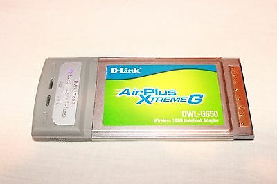 D-LINK AIRPLUS XTREME DWL-G650 WINDOWS 10 DRIVERS DOWNLOAD