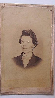 Civil War Antique CDV Photo, St Louis, Missouri Photographer, Adams, Confederate