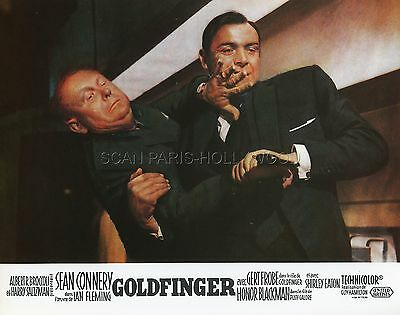 James Bond 007  Sean Connery Gert Fröbe Goldfinger 1964 Lobby Card #6  R70