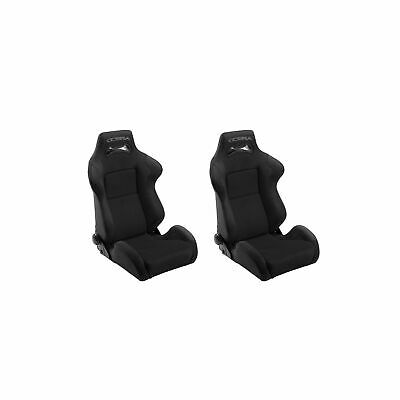2 x Cobra Daytona Reclining Sport Road Car Seats (Pair) - Black - DAY-S-BK