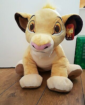 Disney big simba soft plush toy lion king with tags