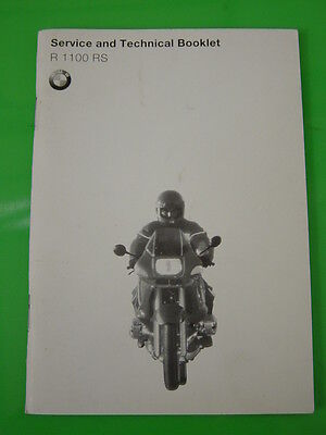 Genuine Bmw R1100 Rs Service And Technical Booklet