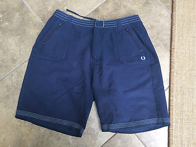 Fred Perry Sport Trunks Shorts Size Kids Xl Boys 28 Waist Casual Navy Blue