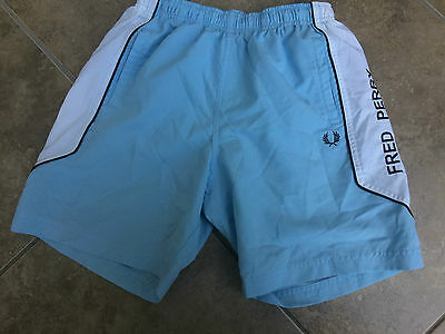 Fred Perry Sport Trunks Shorts Size Kids Medium Boys 24 26 Waist Casual Blue