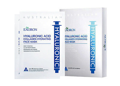 Eaoron Hyaluronic Acid Collagen Hydrating Face Mask 5 Piece White Edition AU