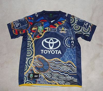 Queensland Cowboys Size Large NRA Telstra Rugby League Shirt New Australia