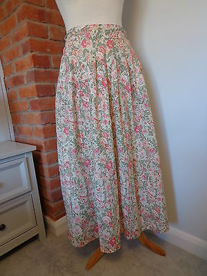 Laura Ashley Vintage 1980's Floral Country Skirt UK Size 16 Made in GB