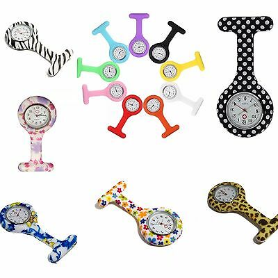 New Fashion Nurses Watch Fob Brooch Silicone Cheap Washable with FREE BATTERY