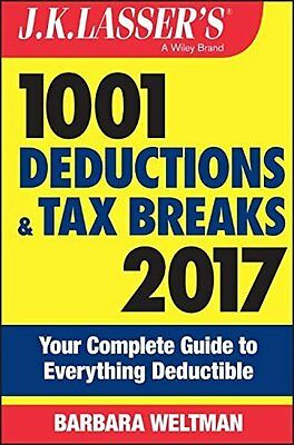 J.K. Lasser's 1001 Deductions and Tax Brea by Barbara Weltman New Paperback Book