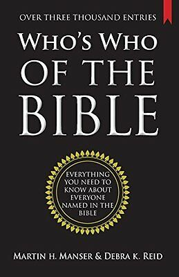 Who's Who of the Bible by Martin H. Manser New Paperback Book