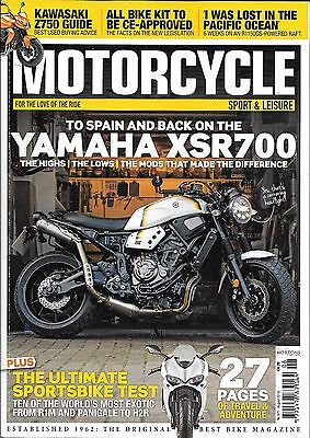 MOTORCYCLE SPORT & LEISURE English Monthly Magazine - August 2016 No 671
