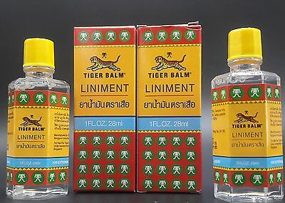 OFFER DUO PACK TIGER BALM LINIMENT LOT 2 HUILE ESSENTIELLE BAUME  DU TIGRE 28ml