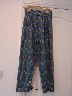 1980 High Waisted Pleated Summer Trousers Pants
