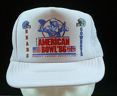 NFL American Football Bowl Wembley Stadium 1986 Cap