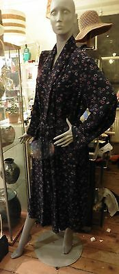 Vintage 1930's Art Deco Dressing Gown/Robe,Heavy Rayon/Cotton Twill Circles.UK