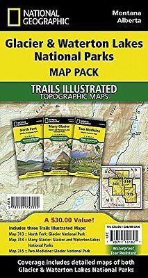 Glacier/Waterton Lakes National Parks  Map Pack Bund by National Geographic Maps