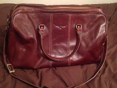 Australian RM Williams Pure Leather Duffle Weekend Bag Superb Condition