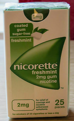Nicorette 2mg Freshmint Gum - Pack of 25 Pieces