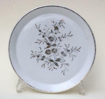Antique Russian Floral Porcelain Small Plater  Kuznetsov Factory