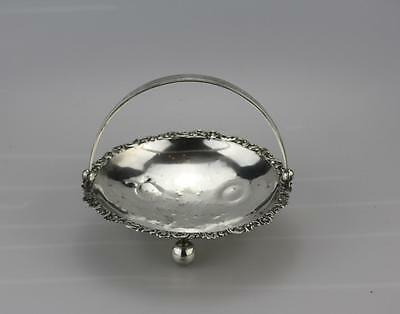 Antique Ornate Russian Latvian Old Riga Silver 875 Sweet Dish.