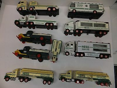 Lot Of 9 Hess Trucks For Parts Junk Yard As Is