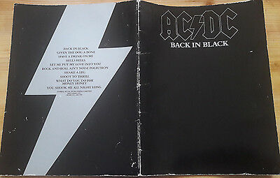 AC/DC Back In Black UK original 1981 A4 32 page songbook BRIAN JOHNSON