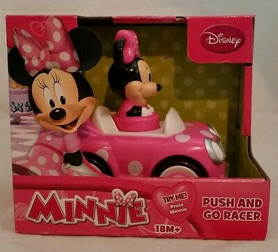 Pink MINNIE MOUSE Push & Go Racer Car Toy 18M+ Gift