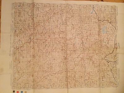 OLD SPARTI antique Map Greece 1941 old map