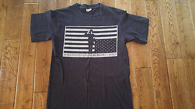 Marilyn Manson We're From America Black T-Shirt 2 Sided Small