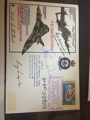 RAF 617 Squadron  Dambusters Signed  By 6 Involved with The Raid Rare Item