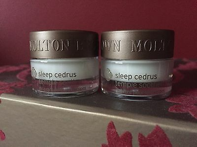 Molton Brown Sleep Cedrus Temple Soother 2 x 5ml New