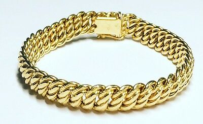 18ct Gold Fancy Link Bracelet - 6.75 Inches