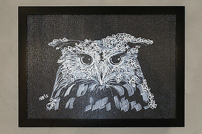 "Textured Picture by Hoshi Dee ""Owl"""