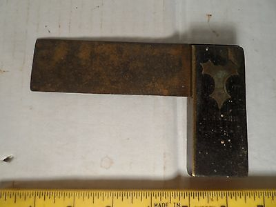 Try Square Set Square Hardwood & Brass Very Old Vintage Tool Possibly Rosewood