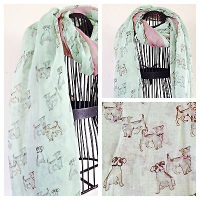 Jack Russell Terrier Dog Scarf Shawl New Large Ideal  Gift  Apple Green