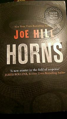 Horns by Joe Hill signed and doodled paperback
